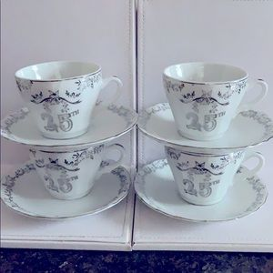 Lady Angela 25 th anniversary coffee cups&sausers